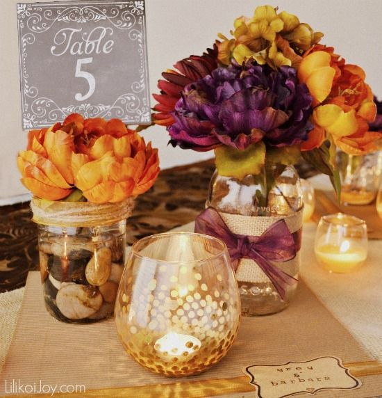 5 Table Challenge Diy Wedding Centerpiece Tips And Ideas On A Dime