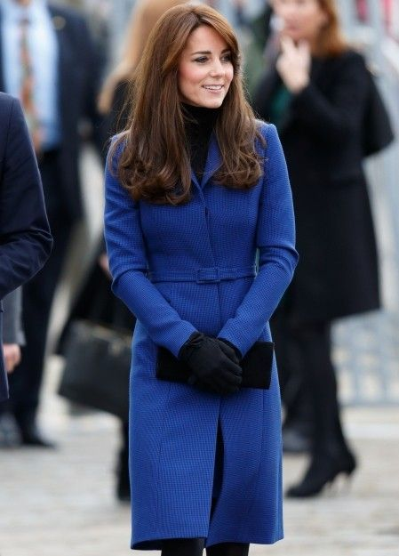 707d1a5e05be Make like The Duchess with this royal blue Christopher Kane coat