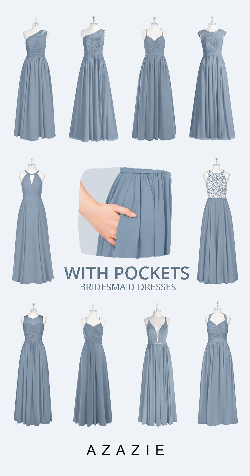 The Gorgeous Wedding Color: Dusty Blue Bridesmaid Dresses