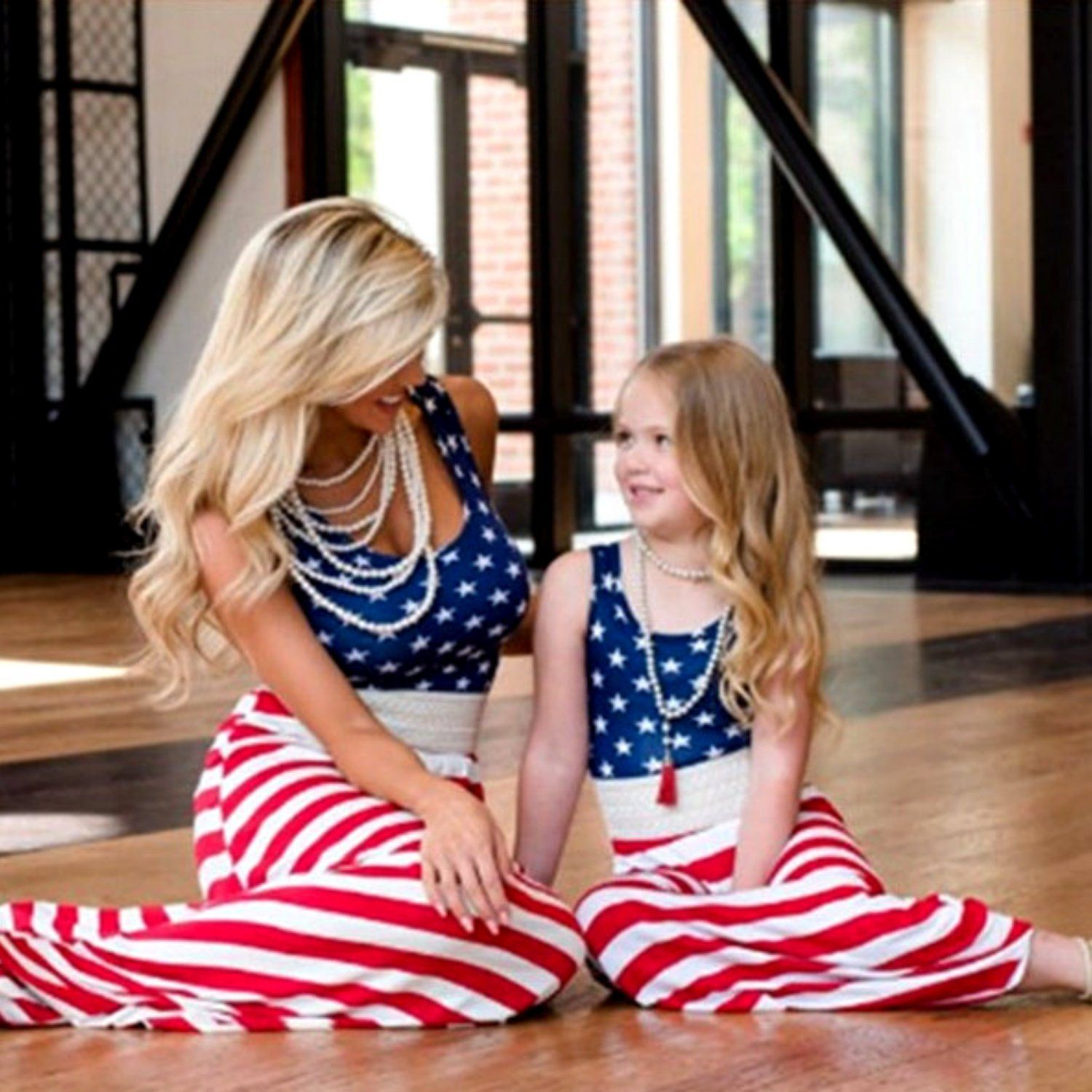 Mommy And Me Outfits 4th Of July Tank Top Maxi Dresses Matching July 4th Dress Red White Blue Memorial Day Dress [ 1500 x 1500 Pixel ]