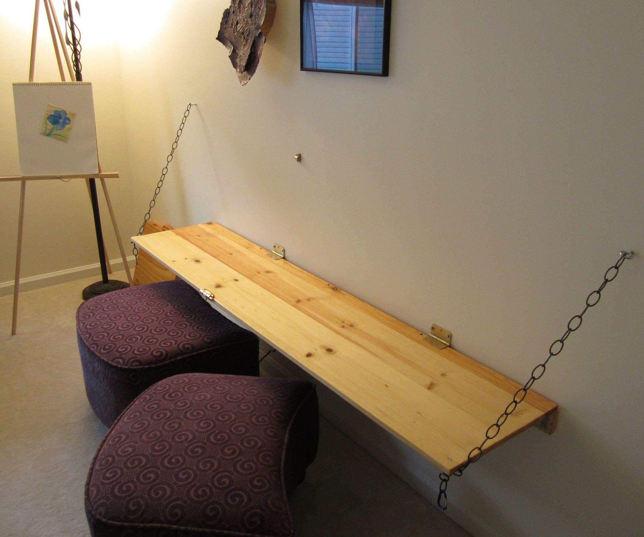 Wallmounted Work Desk/chalkboard Diy computer desk