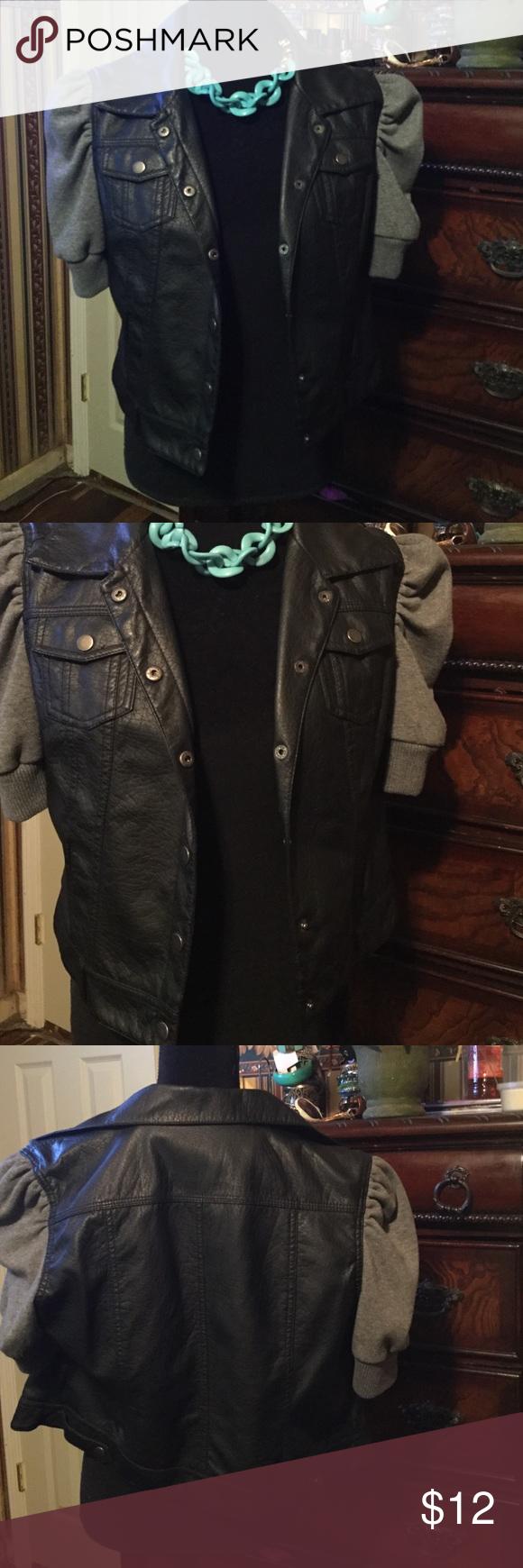 Pleather shirt/jacket/vest Pleather vest, shirt, jacket Last Kiss Tops