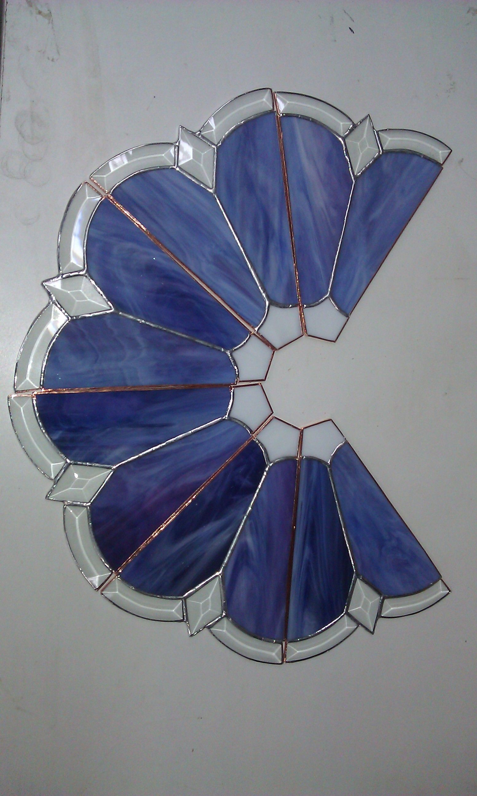 A Work In Progress Shade Of Lamp Stained Glass Candles Stained Glass Lamp Shades Stained Glass Candle Holders