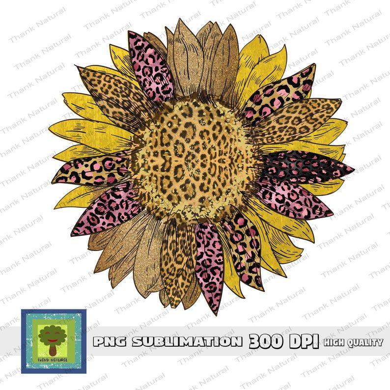 Sunflower Glitter Leopard Sublimation Designs Leopard Print Etsy Digital Design Print Free Fall Printables