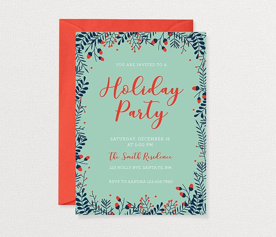Holiday party invitation christmas party invitation invitations holiday party invitation christmas party invitation stopboris Gallery