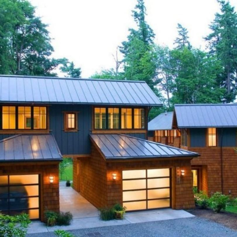 What S True And What S False About A Metal Roof Blog Brick Batten Metal Roof Houses House Exterior Roof Cost