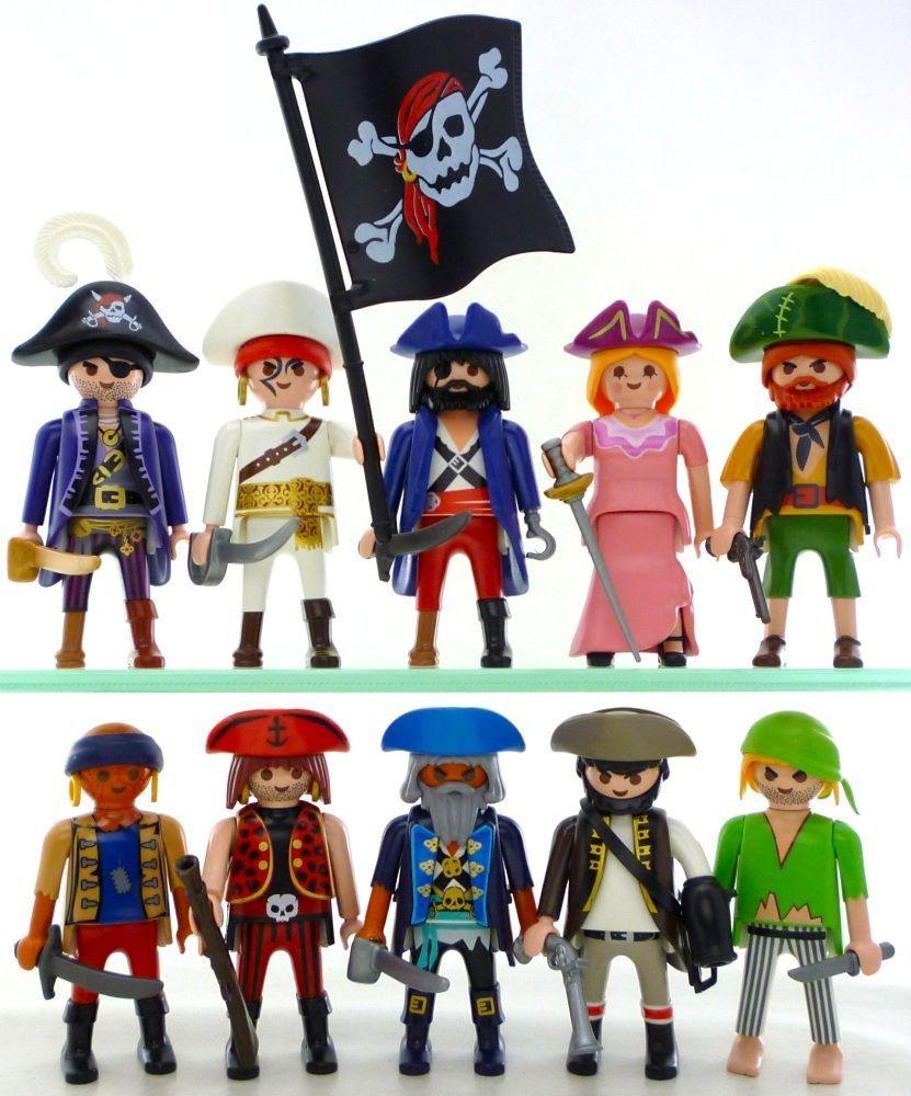 Playmobil 10 pirate figures ships sailor female corsair - Playmobil samu ...