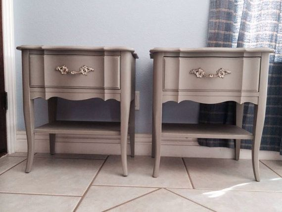 Two vintage French provincial nightstands by ProvincialbutFrench, $600.00