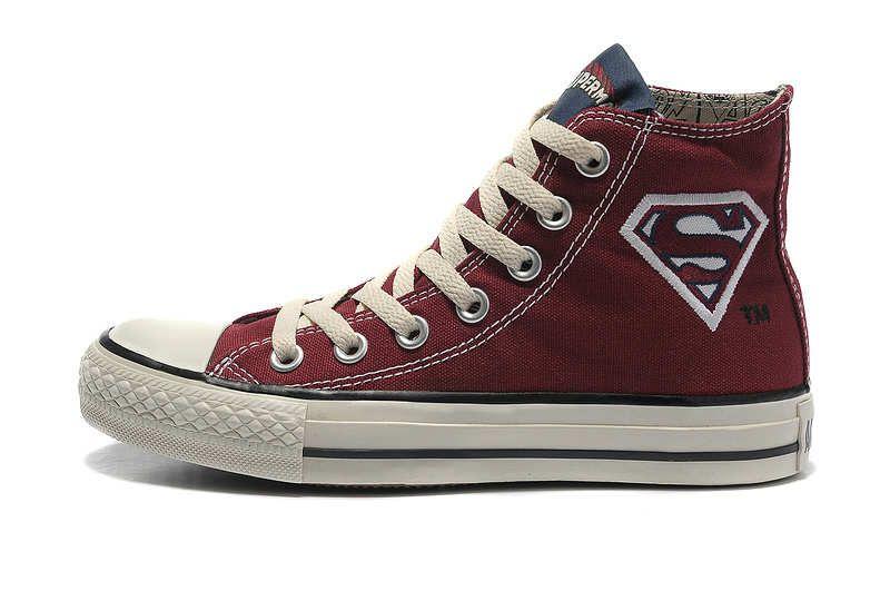 24b18c19a5fe Converse All Star Chuck Taylor Shoes Superman Logo Hi-top Red Canvas ...