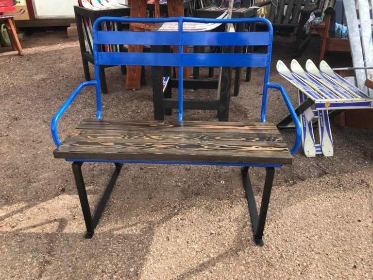 Fantastic Repurposed Ski Chairlift Seat Benches Repurposed Ski Caraccident5 Cool Chair Designs And Ideas Caraccident5Info