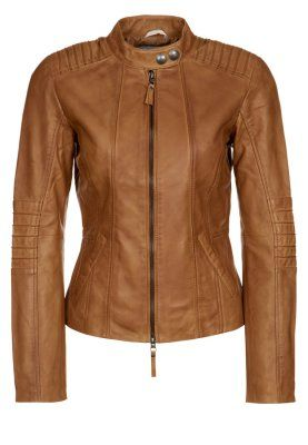 Veste en cuir - marron | Tom Tailor