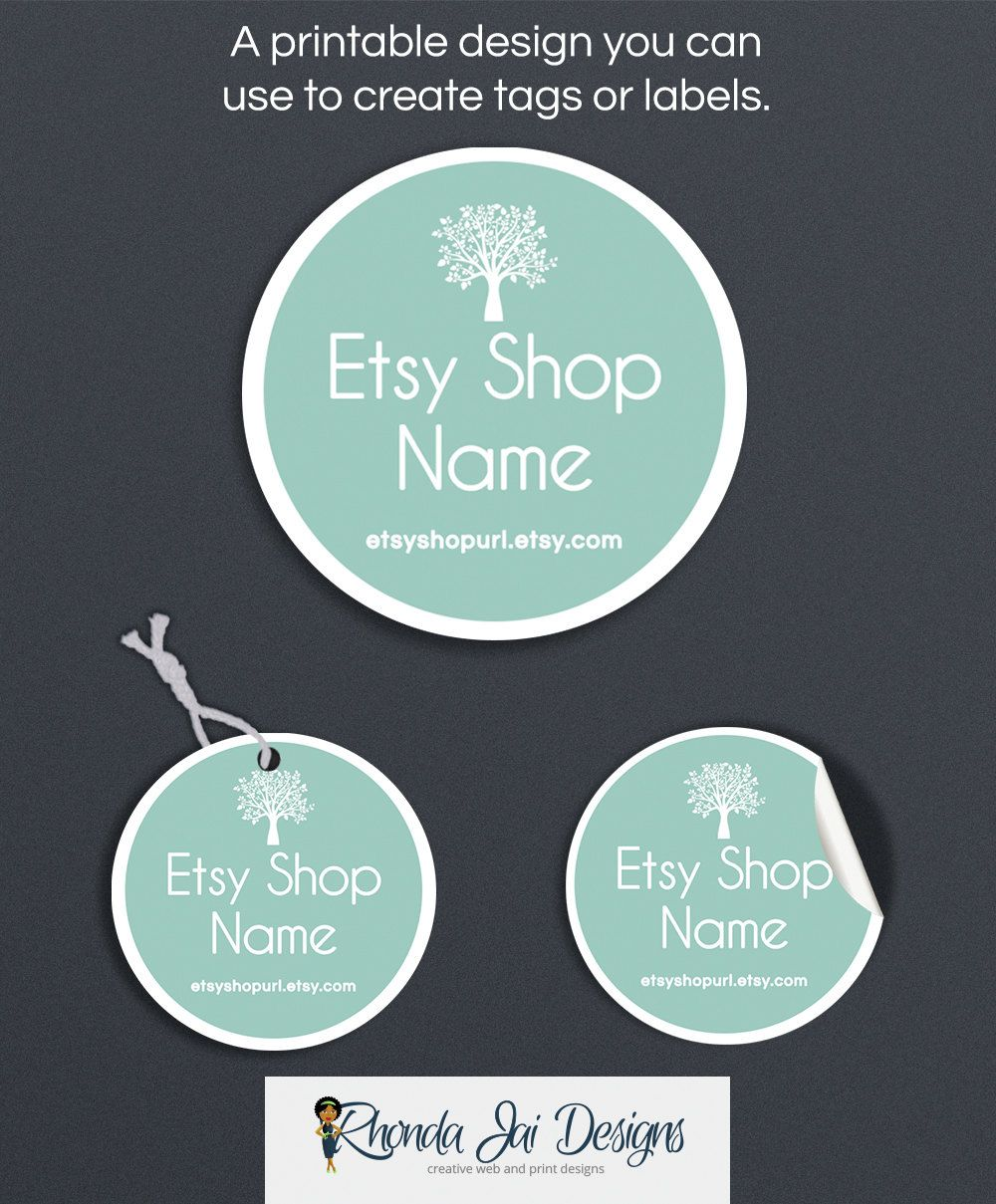 Blue Product Tags  Product Labels  Printable Round Label Or Hang