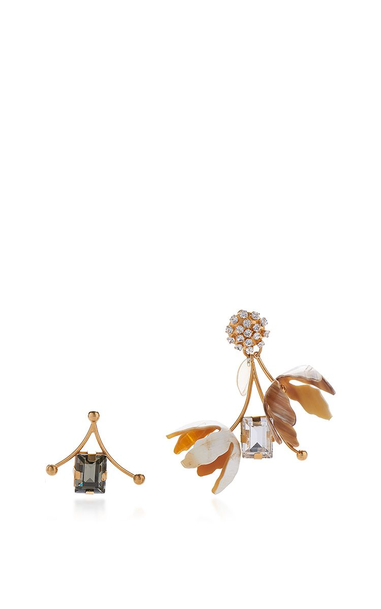 Asymmetrical Earrings With Horn by MARNI for Preorder on Moda Operandi