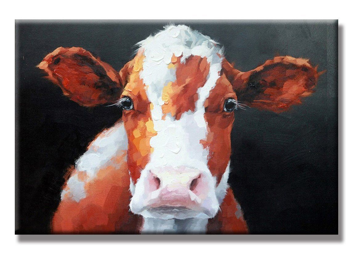 SEVEN WALL ARTS  Modern Farm Animal Cow Cattle Painting Kitchen Room Decor Home Decoration Decorative Artwork for Home Decor 24x36 Inch is part of Cow painting, Large oil painting, Cow canvas, Brown wall art, Wall art painting, Animal paintings - 4 2 out of 5 stars via 38 reviews See buy option 384,222 in Home & Kitchen 331 in Paintings  Size of Farm Animal Cow Cattle Canvas paintings 60 cm wide x 90 cm high ( 24 x 36 Inch )  100% handpainted High quality oil paintings by professional artist  Differ from poster or print paintings  Our handmade oil