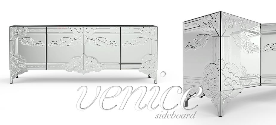 Venice   A classic venetian sideboard mirror by Boca do Lobo