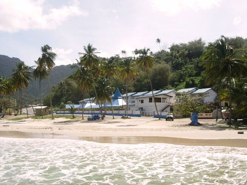 Maracas Bay Hotel Seen From The Beach Side