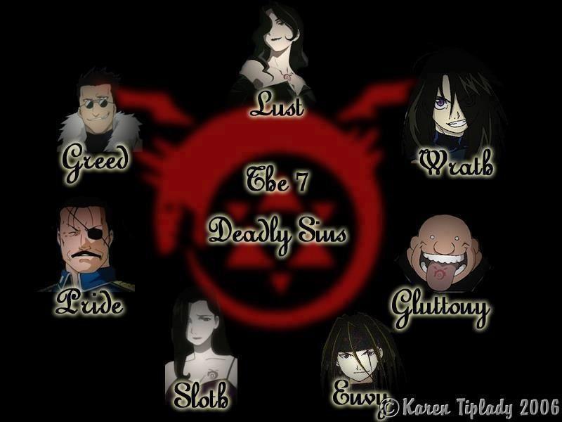 Full Metal Alchemist- Seven Deadly Sins   Fullmetal ...