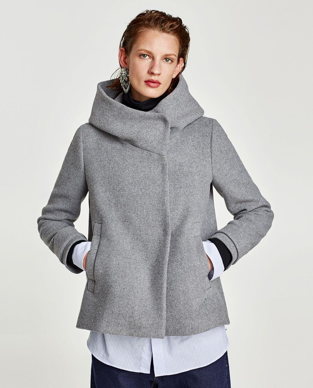 a8376e56 Image 2 of COAT WITH WRAP COLLAR from Zara | womens holiday in 2019 ...