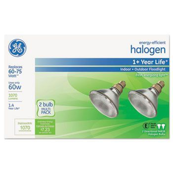 Energy-Efficient Halogen 60 Watt Par38 Floodlight, 2/pack