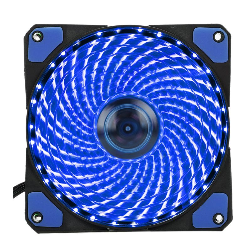120mm Pc Computer 16db Ultra Silent 33 Leds Case Fan Heatsink Cooler Cooling With Anti Vibration Rubber 12cm Fan 12vdc 3 Pc Computer Computer Case Computer Cpu