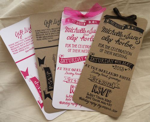 Invitation Formats New Range Of Handrawn Wedding Stationery Available In A Variety Of .