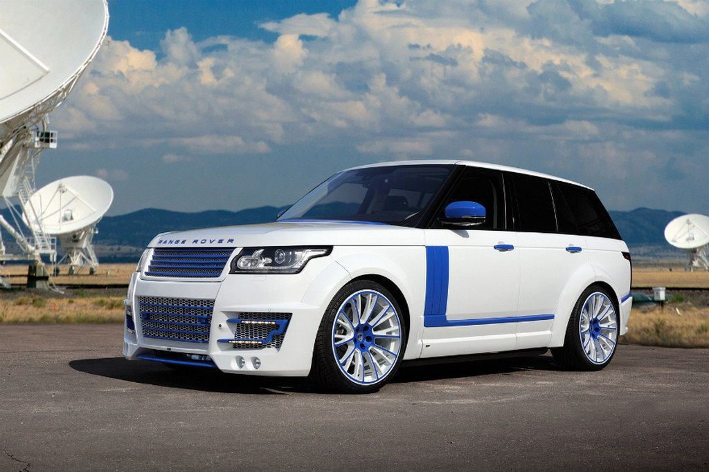 The latest tuned Range Rover by the Russian firm TopCar appears to be designed for a Star Wars fan, as it is, apparently, modeled on a Stormtrooper's helmet. Besides the hugely complex Lumma body kit, the car also features a white and body paint scheme that makes it even more unique. (Photo & Story Credit: http://www.motorward.com) #landroverpalmbeach