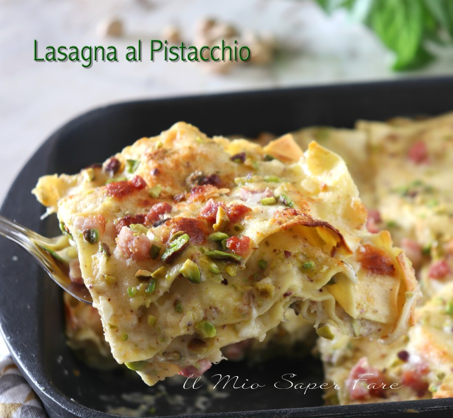 Photo of LASAGNA with PISTACHIO creamy and refined