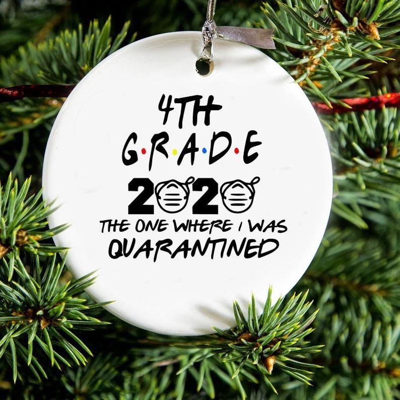 Quarantined 4th Grade Class of 2020 Christmas Ornament