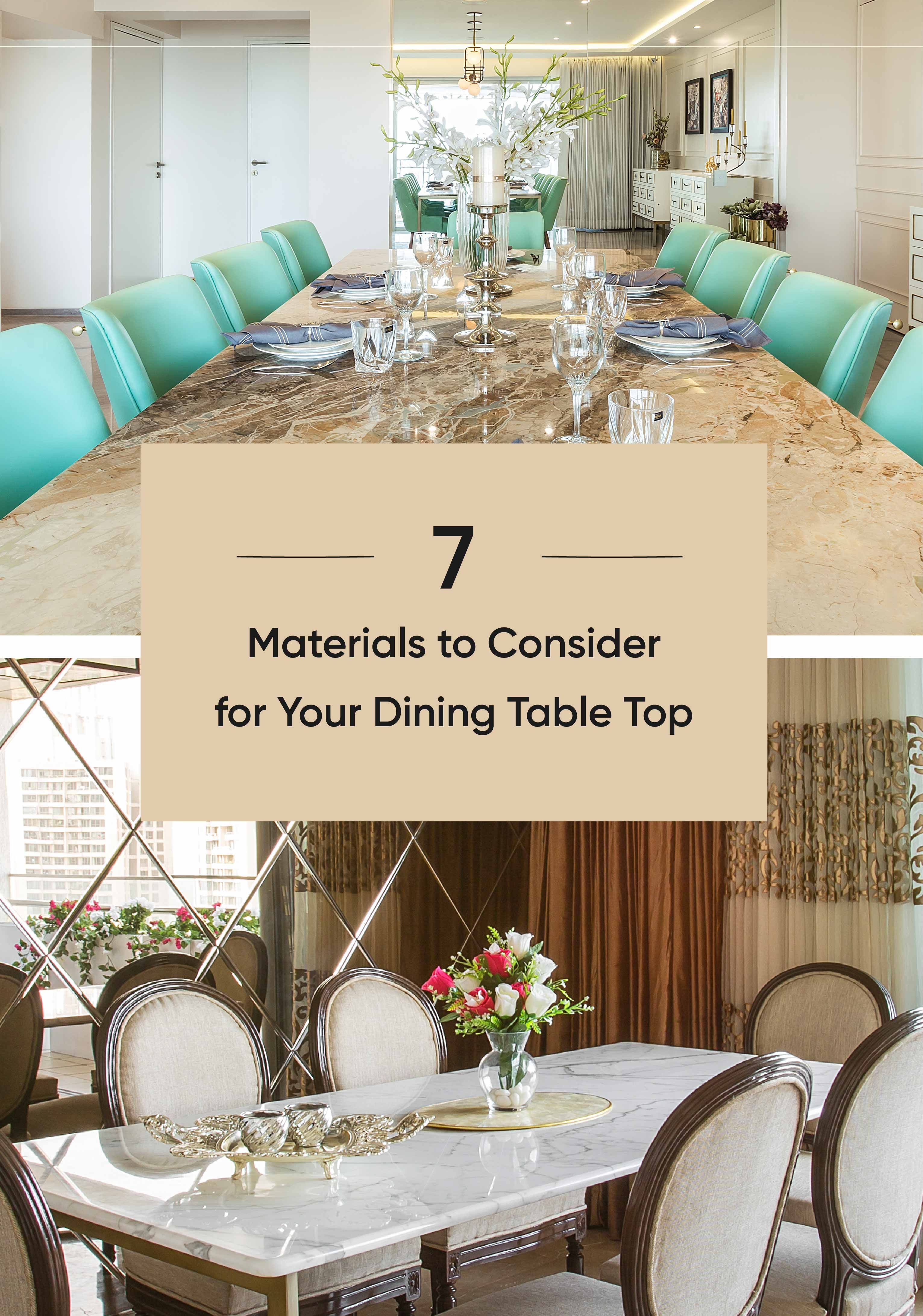 What's the Best Material for Your Dining Table Top   Dining table ...
