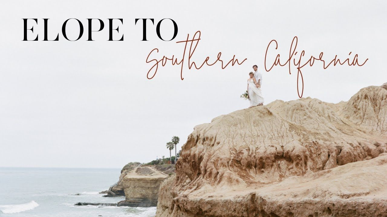 How to elope to southern california winter wedding