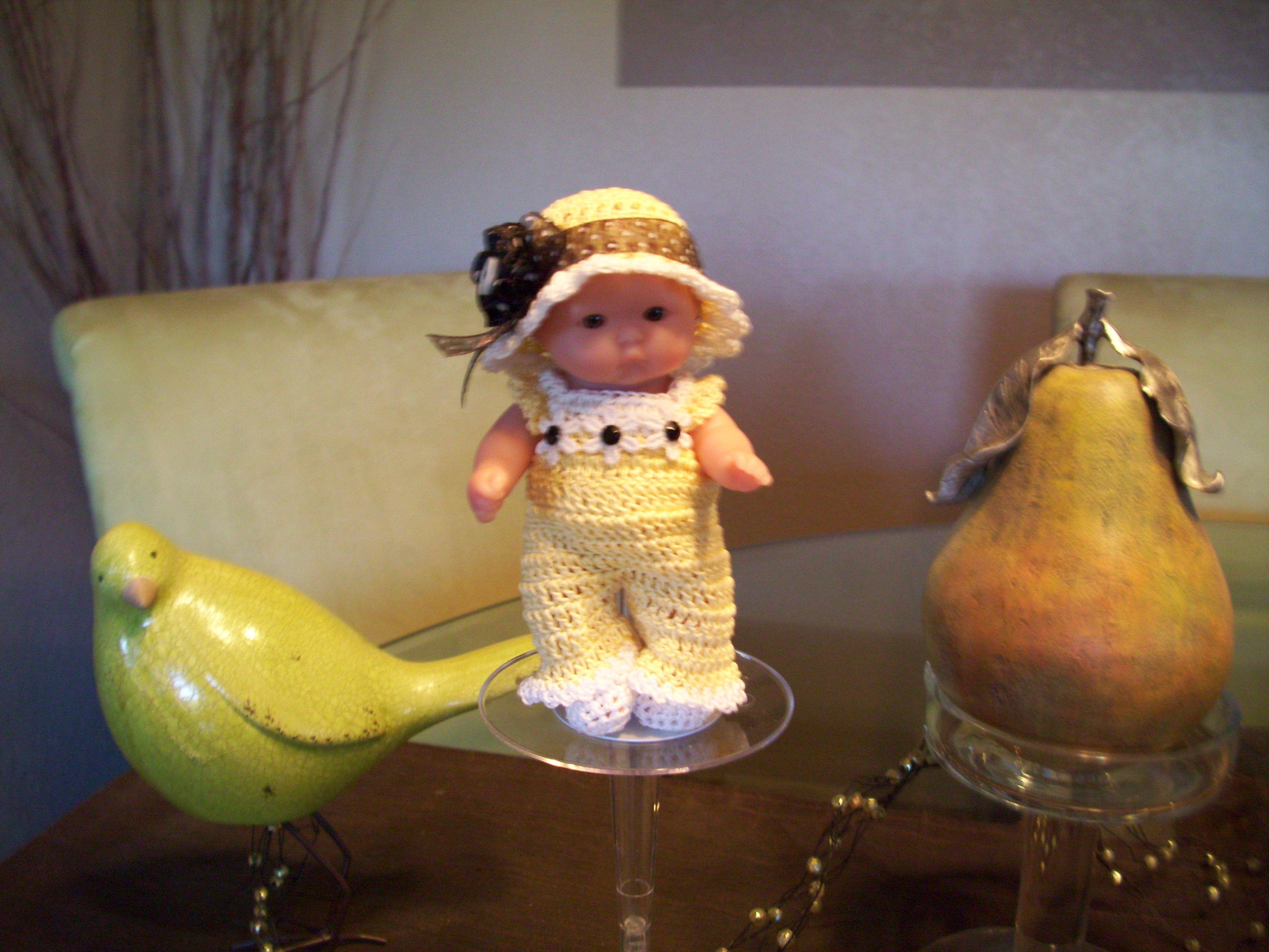 "Berenguer 5"" Baby Dolls - Sunshine girl in jump suit. #78"