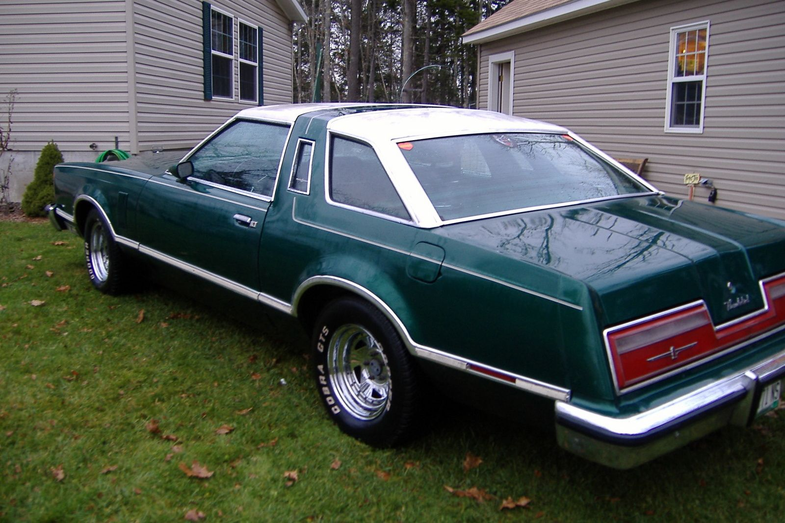 small resolution of blacktie64 s 1977 ford thunderbird my grandma had one just like it spartan green with white leather seats need me one