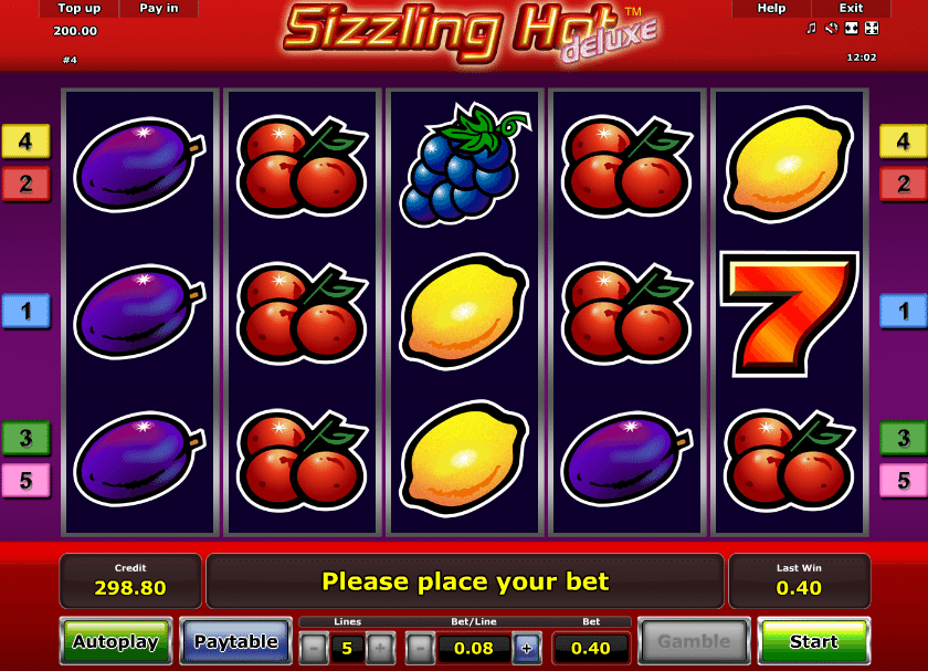 Sizzling Hot Slot Free Online