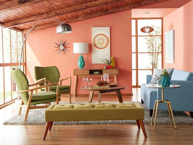 Pastel Mid Century Modern Living Room | Mid century modern ...
