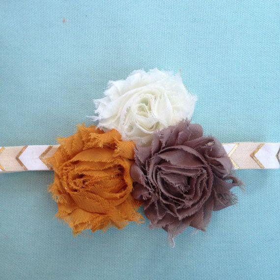 Shabby Chic Fall Headband by daisydesigned on Etsy