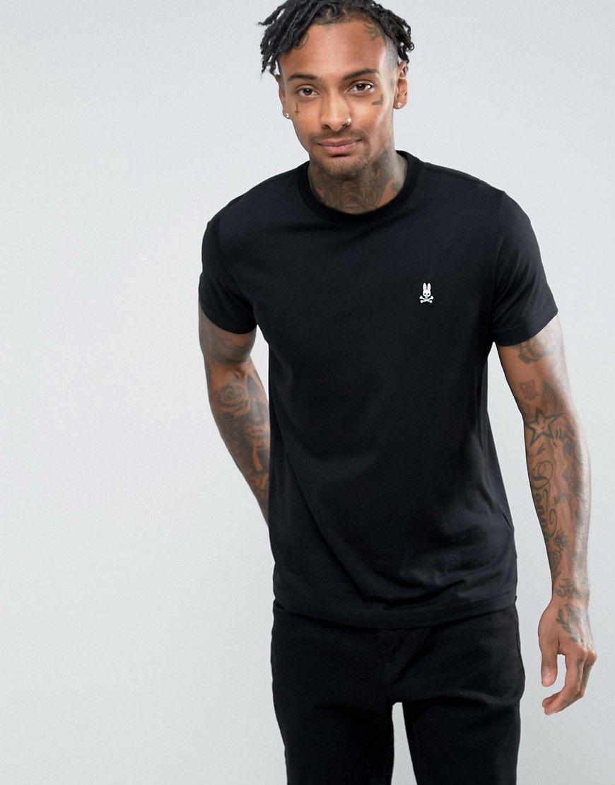 Psycho Bunny Crew Neck T Shirt Black Psychobunny Cloth