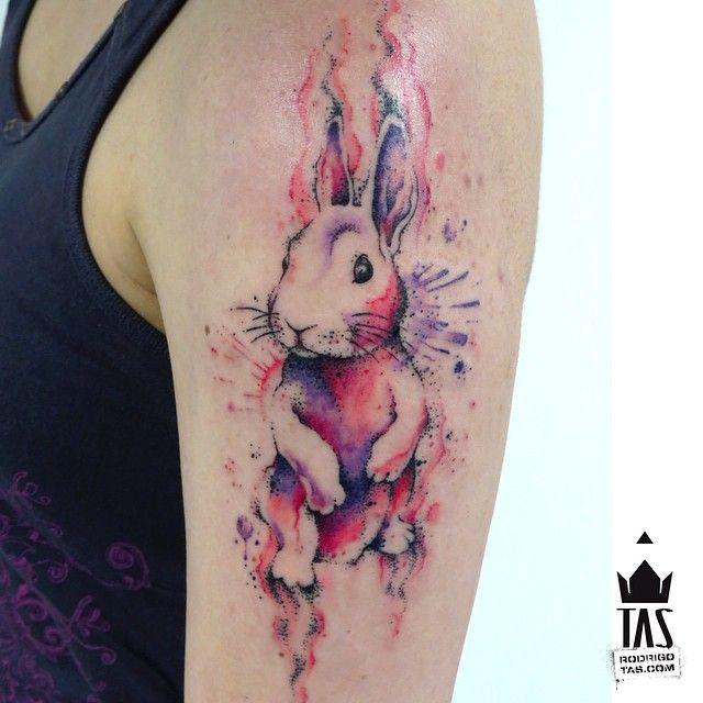 Tatuaje de acuarela de Rodrigo Tas
