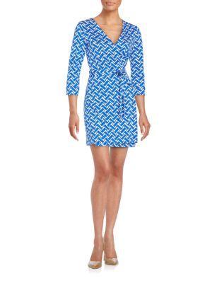 DIANE VON FURSTENBERG New Julian Wrap-Front Dress. #dianevonfurstenberg #cloth #dress