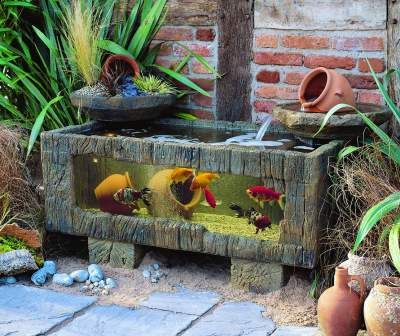 Small Outdoor Water Features Sea Chest Aquarium For