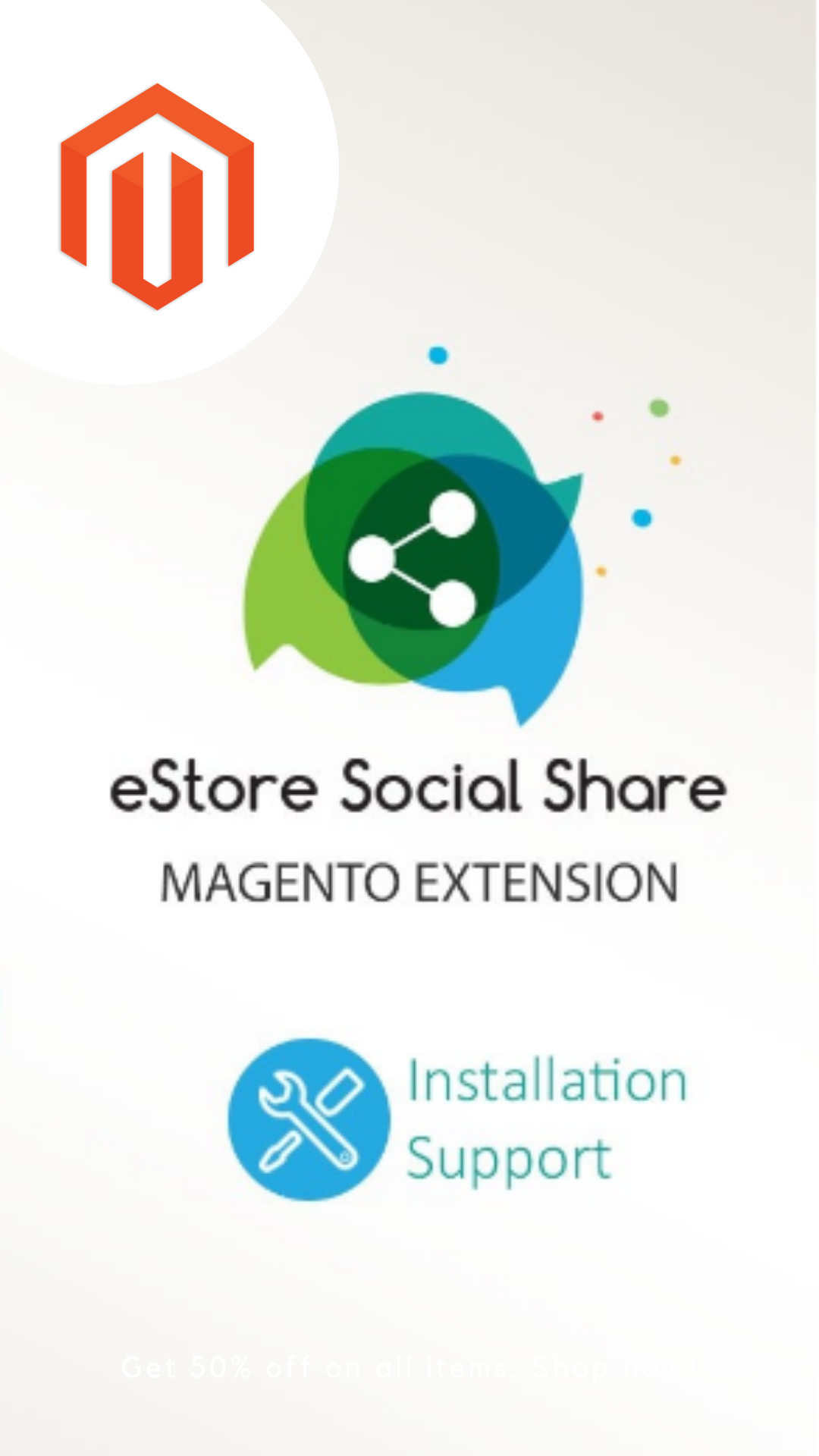 eStoreSocialShare is a Magento1Extension that allows