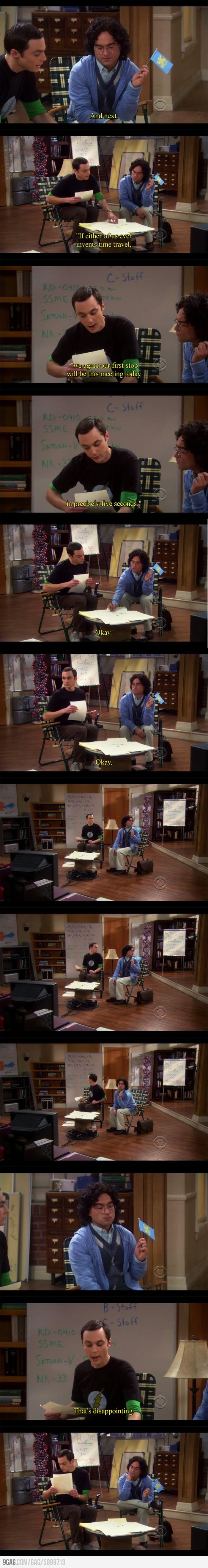 héhéhé, une scène classique de Big Bang Theory