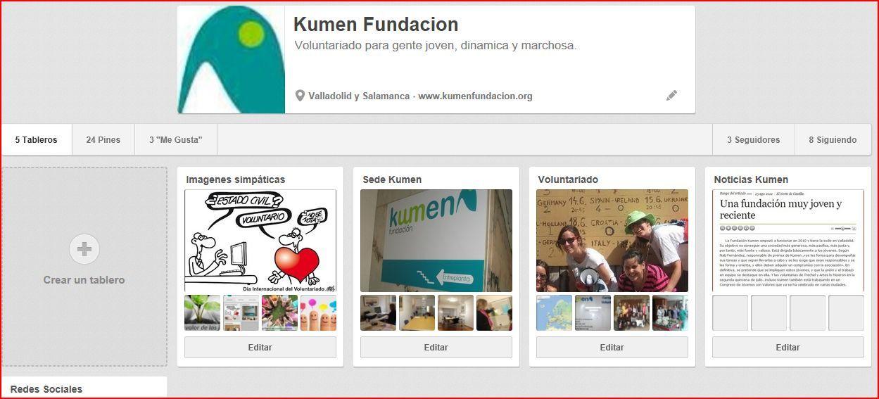 Estamos en Pinterest pinterest.com/kumenfundacion