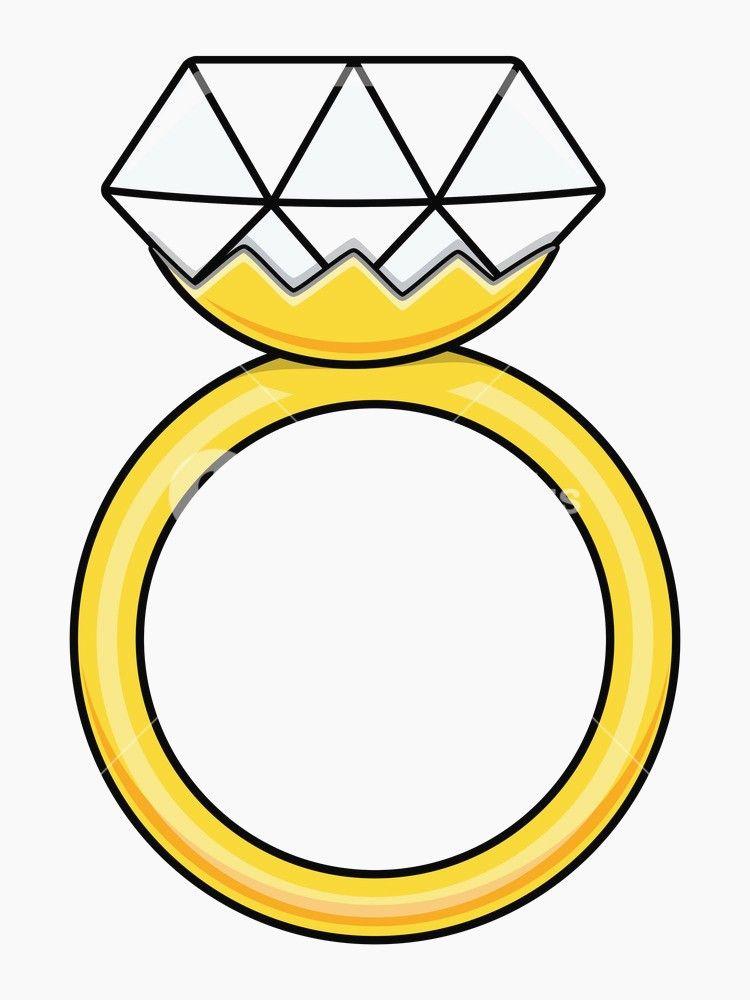 Inspirational Cartoon Diamond Ring Wedding Ring Drawing Cartoons Vector Vector Illustration
