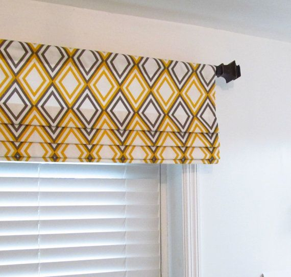 Custom Lined Faux Roman Shade Mock Valance By Supplierofdreams