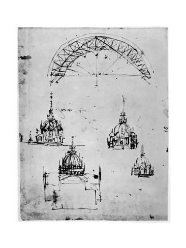 Giclee Print: Studies for the Central Cupola of Milan Cathedral ...