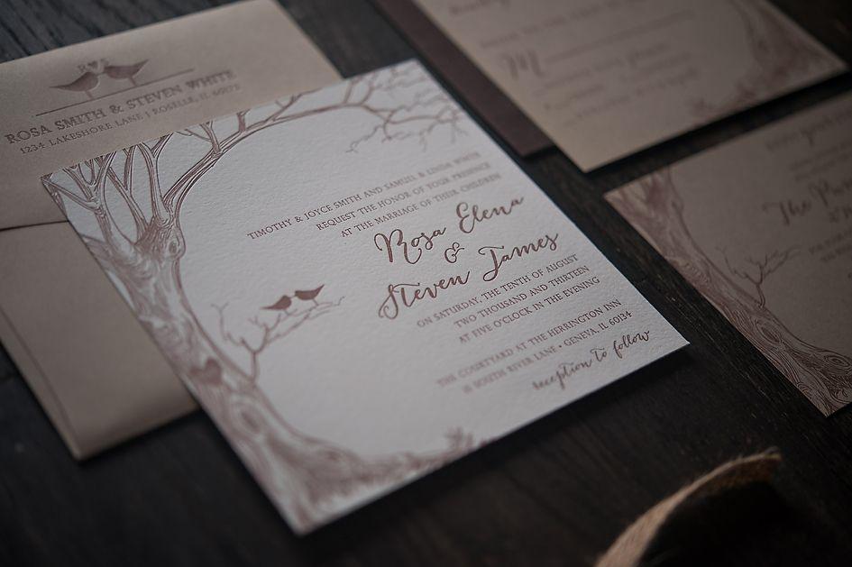 Rustic wedding invitation with burlap   Jupiter and Juno Letterpress ...