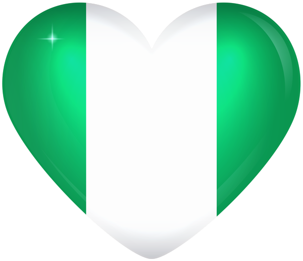 Nigeria Large Heart Flag Nigeria Flag Flag African Love