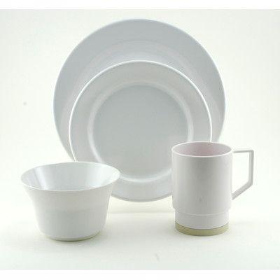 Galleyware Company Melamine 24 Piece Dinnerware Set Color ...