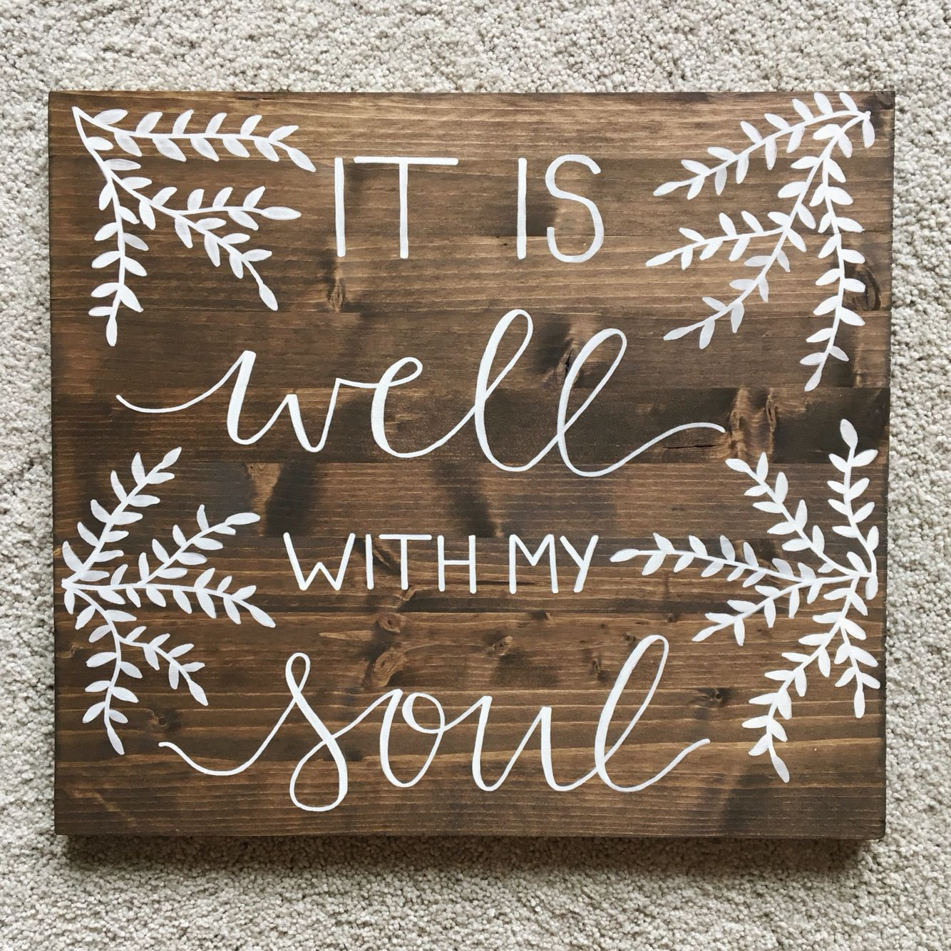 Calligraphy On Wood From Shoppaperjoy.etsy.com
