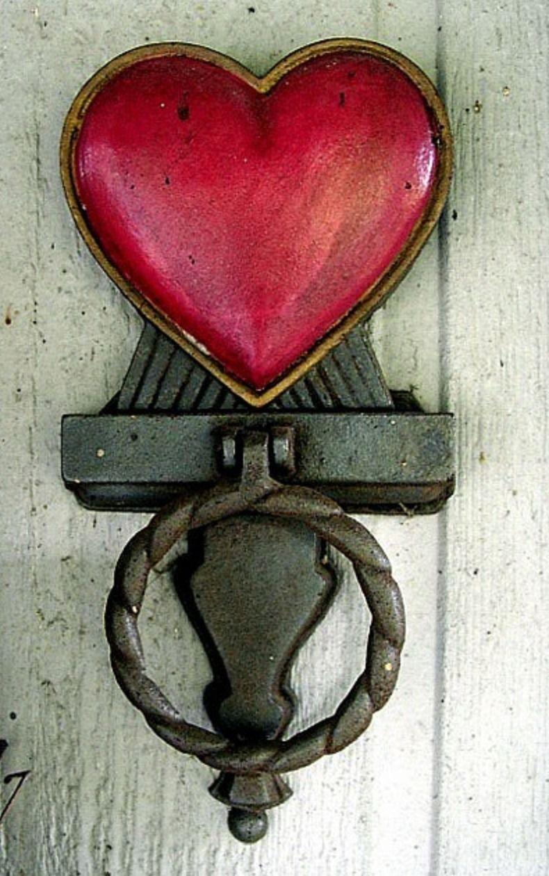♥ Heart Door Knocker ♥ | Heart | Pinterest | Doors, Door knobs and ...